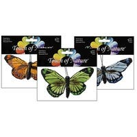"""Midwest Design Butterfly 4"""" Feather Clip Astd 1pc"""
