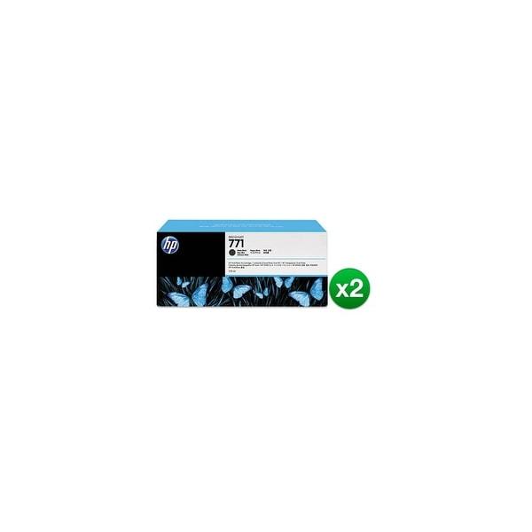 HP 771A 775-ml Matte Black DesignJet Ink Cartridge (B6Y15A) (2-Pack)