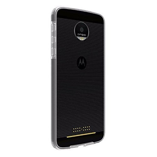 Verizon Two-Tone Bumper Case for Motorola Moto Z Force Droid - Clear