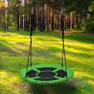 "Children's Flying Saucer Swing Playground Platform Tree Swing Nylon Rope Detachable 40"" Diameter 220lb Weight Capacity"
