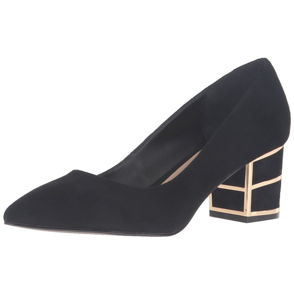 STEVEN by Steve Madden Womens Buena Suede Pointed Toe Classic Pumps