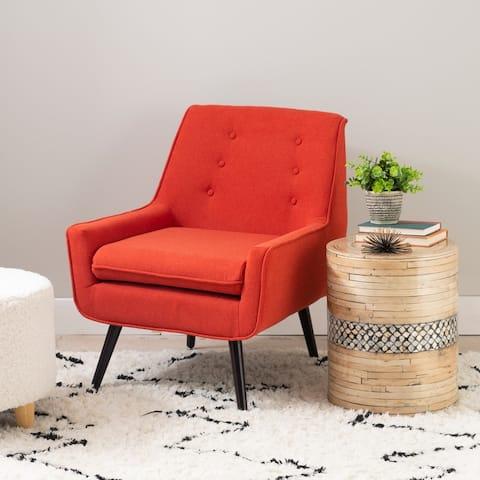 Liz Pimento Mid-Century Button-Tufted Chair