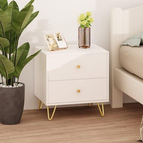 Modern 2-drawer Nightstand storage cabinet Bedside Tables