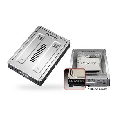 "Icy Dock Ez Convert Pro Enterprise Full Metal 2.5"" To 3.5"" Sas/Hdd/Ssd Converter/Mounting Kit For Internal Drive Bay Mb9"