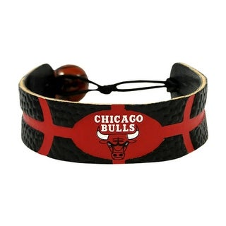 Chicago Bulls Team Color NBA Gamewear Leather Basketball Bracelet