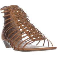 AR35 Averi Gladiator Wedge Sandals, Cognac
