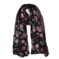 Large Polyester Scarves Beach Shawl Vintage Style Wraps For Women Black