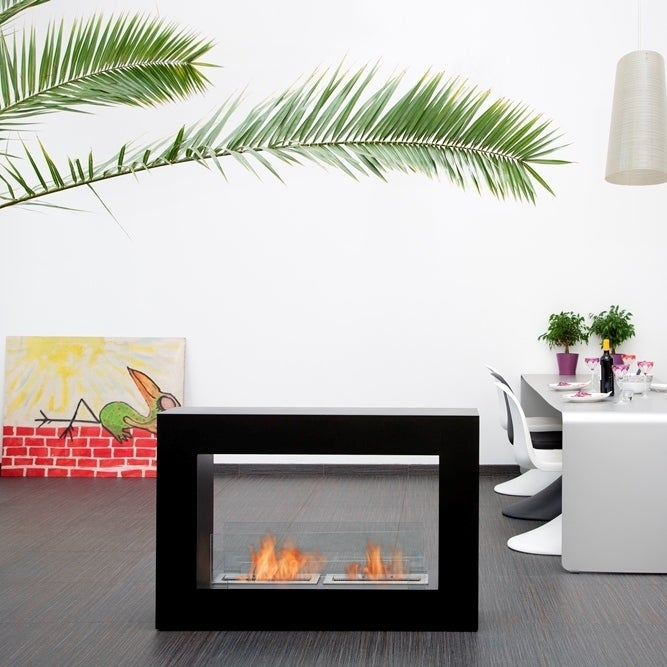 Qube Bio Ethanol Fuel Fireplace Finish: Black, Size: Small - Black - Thumbnail 0
