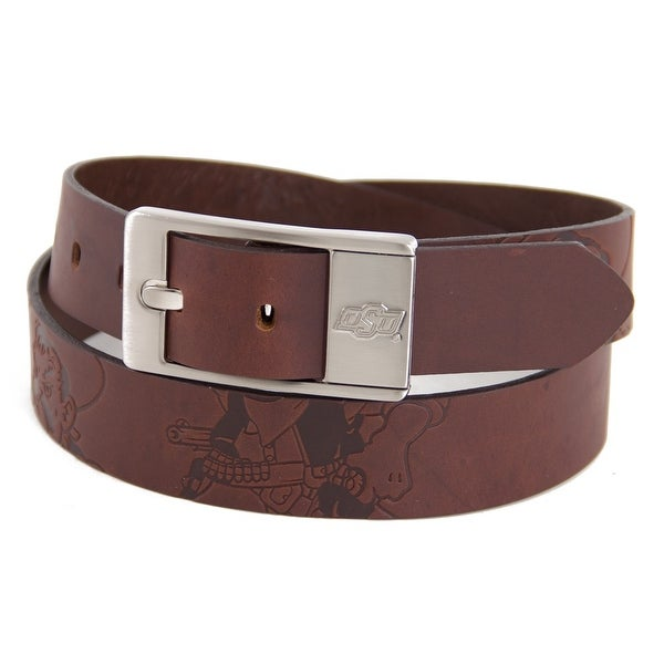 Oklahoma State University Brandish Leather Belt