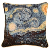 Fine Art Double-Sided Tapestry Square Throw Pillow Cover - Starry Night