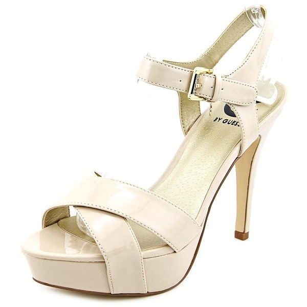 b08cef30711 Shop G By Guess Cenikka Women Open Toe Synthetic Nude Platform Heel ...