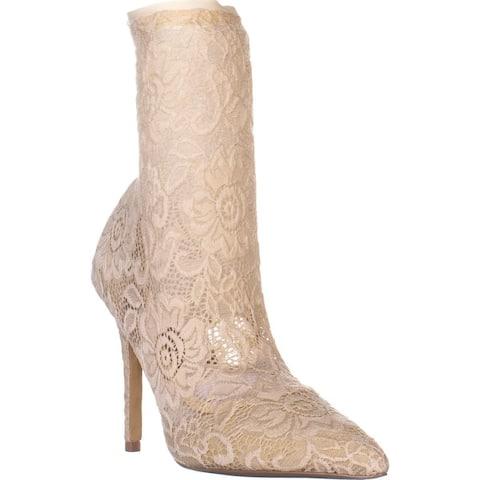 Charles by Charles David Player Sock Boots, Ivory Lace - 8 US