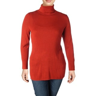 Michel Studio Womens Plus Pullover Sweater Ribbed Long Sleeve