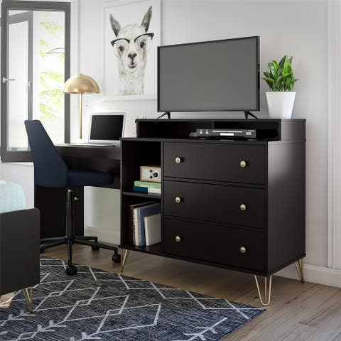 Novogratz Owen 3 in 1 Media Dresser and Desk Combo