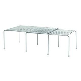 InterDesign Classico Expandable & Stackable Cabinet Shelves - Silver
