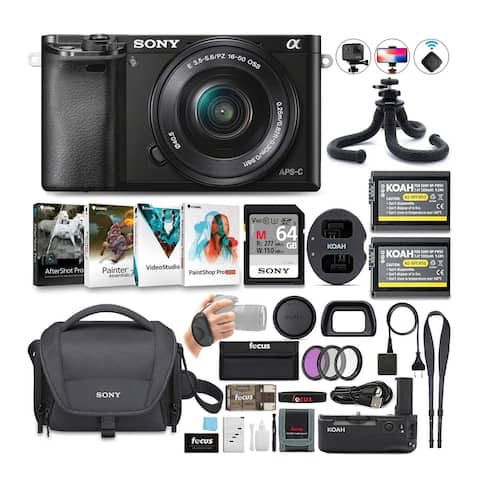 Sony Alpha a6000 Mirrorless Camera (Black) with 16-50mm Lens Bundle