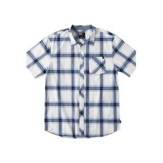 O'Neill Waddell Woven Short Sleeve Plaid Shirt Medium M White & Black