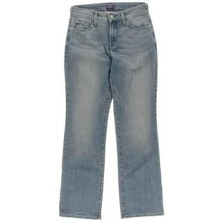 NYDJ Womens Petites Slimming Fit Mid-Rise Bootcut Jeans - 4P