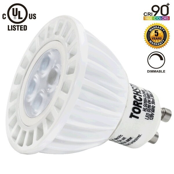 1 PACK/6 PACK #Dimmable# MR16 GU10 LED Light Bulb, 6W (50W Equivalent), 2700K Soft White/ 5000K Daylight 360Lm/380Lm
