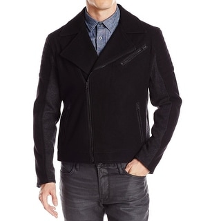 Kenneth Cole Reaction NEW Black Mens Size Small S Moto Wool Jacket