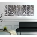 Statements2000 Silver Abstract Etched Metal Wall Art Sculpture by Jon Allen - Galactic Expanse - Thumbnail 10