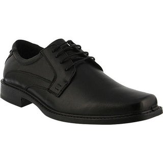 Spring Step Men's Matt Derby Black Leather