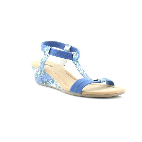 Alfani Voyage Women's Sandals & Flip Flops Blue Ikat