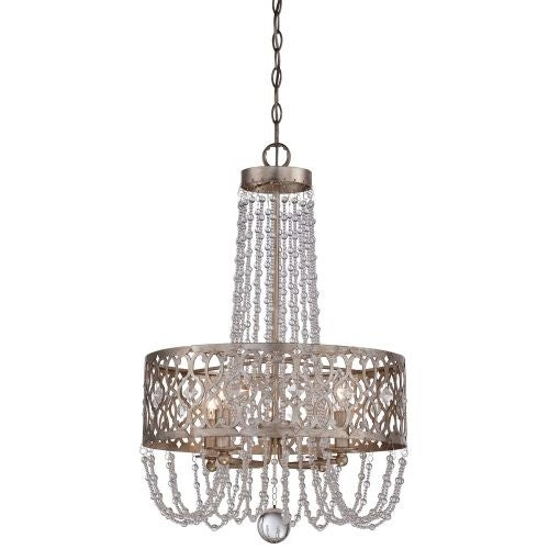 Minka Lavery 4844-276 4 Light 1 Tier Drum Chandelier from the Lucero Collection