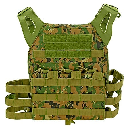 Junior Padded Tactical Vest - Green Digital Camo thumbnail
