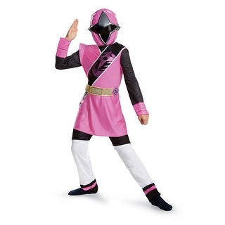 Power Rangers Ninja Steel Pink Ranger Muscle Girls Costume (2 options available)