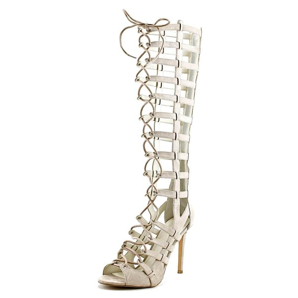 Kendall + Kylie Emily Women Open Toe Canvas Tan Gladiator Sandal