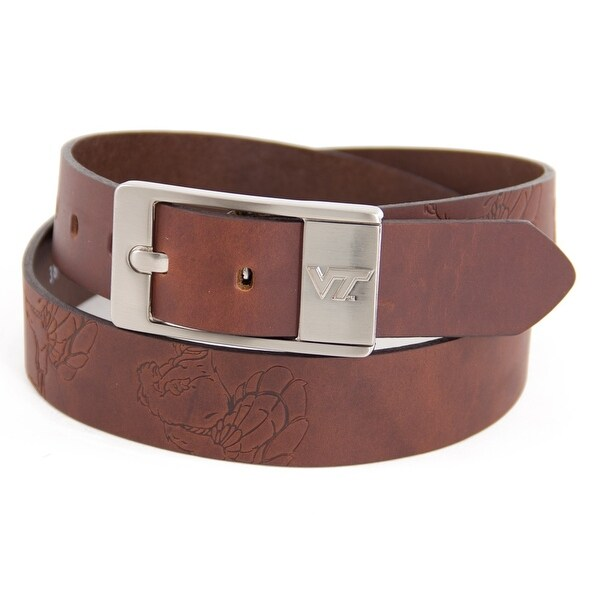 Virginia Tech University Brandish Leather Belt