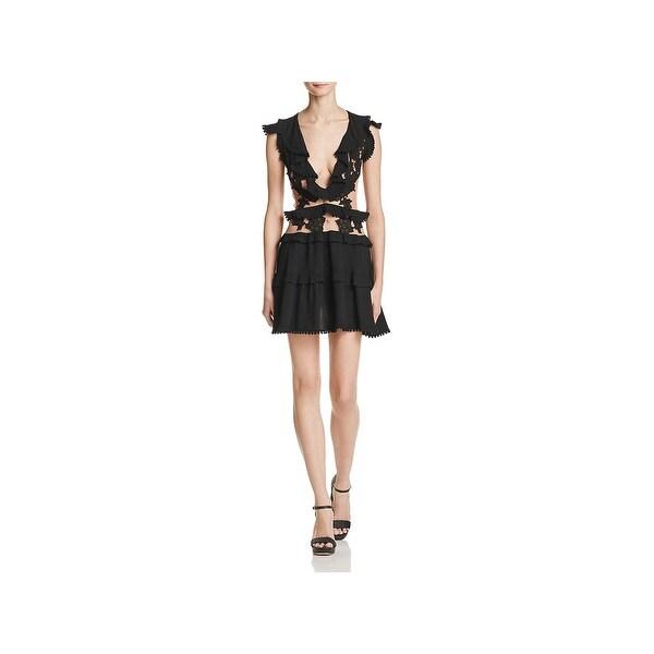 8347c2ba86d3 Shop For Love & Lemons Womens Laney Lou Mini Dress Embroidered Mesh ...
