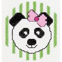 """3"""" Round 14 Count - My 1St Stitch Panda Mini Counted Cross Stitch Kit"""