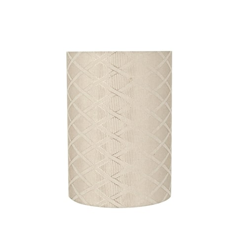 "Aspen Creative Drum (Cylinder) Shaped Spider Construction Lamp Shade in Off White (8"" x 8"" x 11"")"