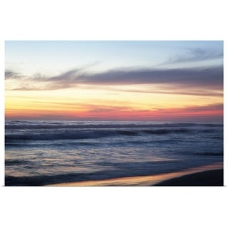 """""""Sunset at the beach, Mexico"""" Poster Print"""