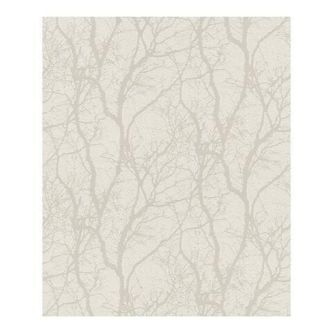 Wiwen Off-White Tree Wallpaper - 20.5 x 396 x 0.025