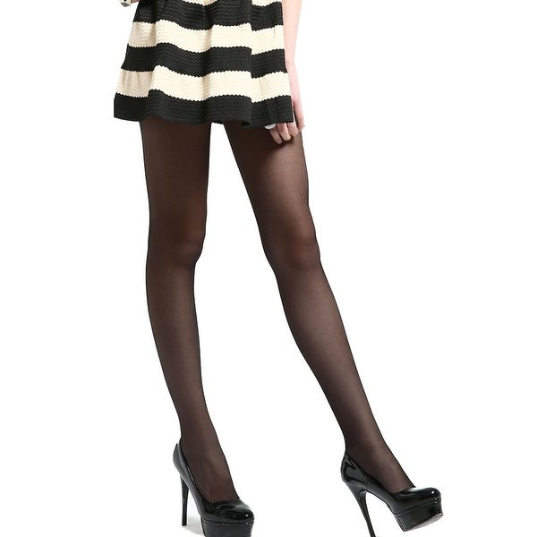 Shop Unique Bargains Women Control Top Sheer Reinforced Toe Leggings  Pantyhose Black L - On Sale - Free Shipping On Orders Over $45 - Overstock  - 18445179