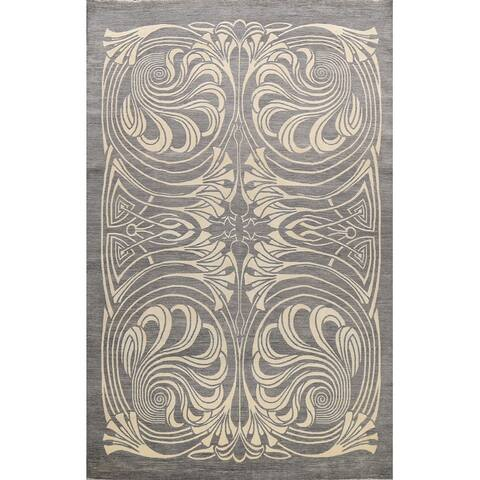 """Wool/ Silk Abstract Oriental Vegetable Dye Area Rug Hand-knotted - 10'0"""" x 14'3"""""""