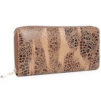 Mad Style Desert Taupe Haven Zipper Wallet - Light Brown