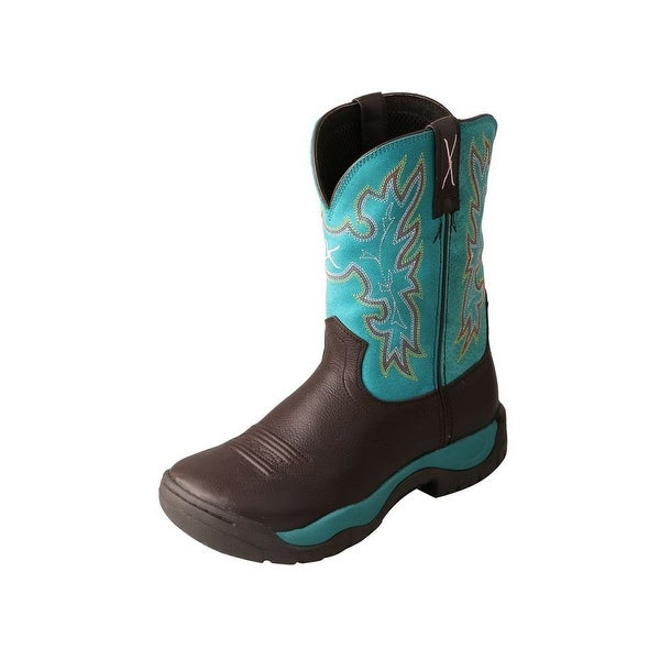 Twisted X Western Boots Womens All Around Brown Turquoise