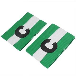 2pcs Green Blue C Printed Stretchy Football Soccer Sports Match Captain Armband