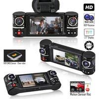 "Indigi 2.7"" HD LCD (Dual Lens) Vehicle Recorder Dash Cam DVR + Split LCD + Motion Activate"