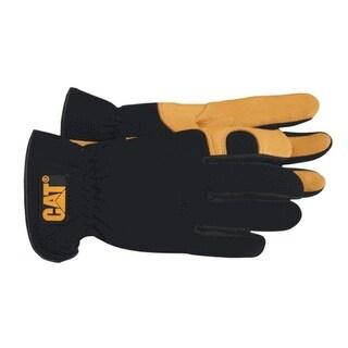 Cat CAT012205L Deerskin Palm Glove W/Gel Pad Palm, Black