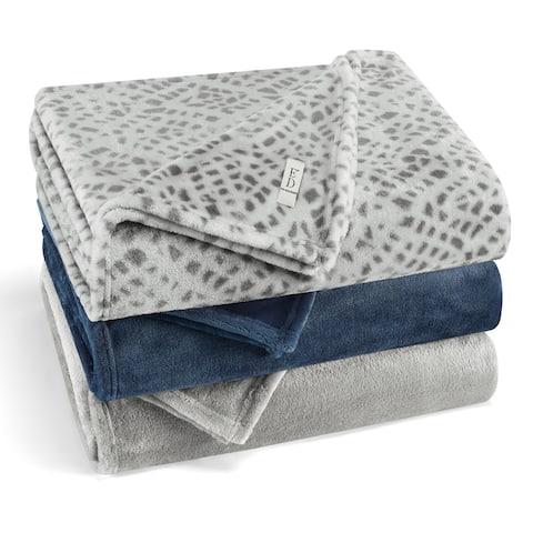 Ed-Ellen Degeneres Ultra Plush Premium- Cozy Fleece Blanket