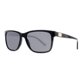 VERSACE Square VE 4249 Men's GB1/87 Shiny Black Polarized Gray Sunglasses - 58mm-17mm-140mm