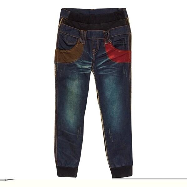 Rock'nStyle Baby Boys Dark Blue Guitar Patch Detail Denim Pants - 18-24 months