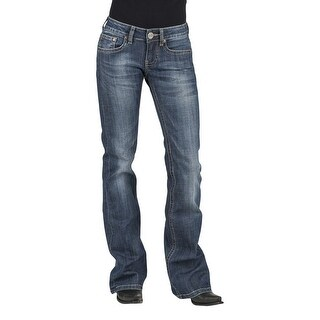 Stetson Western Jeans WoMens Bootcut Low Rise Blue 11-054-0816-1312 BU