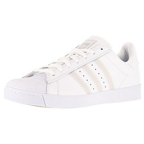 Adidas Mens Superstar Vulc Adv, Ftwwht/Ftwwht/Silvmt, 12