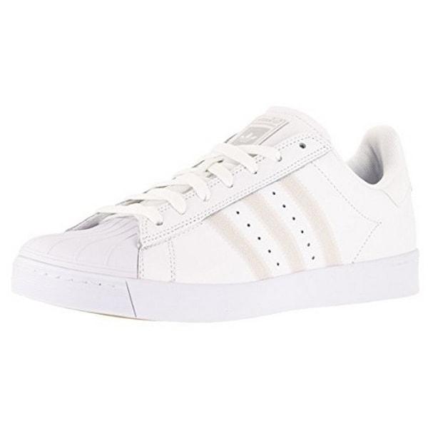 Adidas Mens Superstar Vulc Adv, Ftwwht,Ftwwht,Silvmt, 10.5